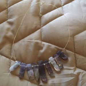 Jewelry - Amethyst and Silver Necklace